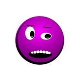 Het violette gezicht van ` s op een wit Stock Afbeeldingen