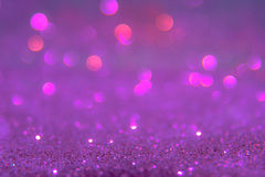 Het violette of purpere bokehlicht is de zachte vage cirkels van ligh Stock Fotografie