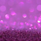 Het violette of purpere bokehlicht is de zachte vage cirkels van ligh Royalty-vrije Stock Fotografie