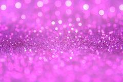 Het violette of purpere bokehlicht is de zachte vage cirkels van ligh Royalty-vrije Stock Foto