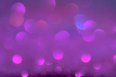 Het violette of purpere bokehlicht is de zachte vage cirkels van ligh Stock Afbeelding
