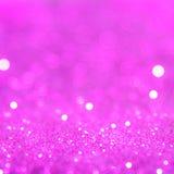 Het violette of purpere bokehlicht is de zachte vage cirkels van ligh Stock Foto's