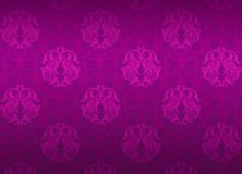 Het violette sierpatroon van de luxe Royalty-vrije Stock Foto's
