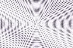 Het violette wit stippelde halftone Bleke radiale gestippelde gradiënt Halftintachtergrond vector illustratie