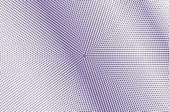 Het violette wit stippelde halftone Diagonale vlotte gestippelde gradiënt Halftintachtergrond stock illustratie