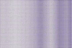 Het violette wit stippelde halftone Frequente verticale gestippelde gradiënt Halftintachtergrond vector illustratie