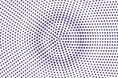 Het violette wit stippelde halftone Overmaatse radiale gestippelde gradiënt Halftintachtergrond stock illustratie