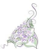 Het viooltje van de waterverf Royalty-vrije Stock Afbeelding