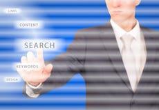 Het virtuele concept van SEO Stock Afbeelding