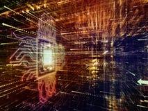 Het virtuele Leven van Digitale Wereld stock illustratie