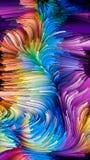 Het virtuele Leven van Vloeibare Kleur Royalty-vrije Stock Afbeeldingen