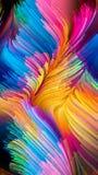 Het virtuele Leven van Vloeibare Kleur Stock Fotografie