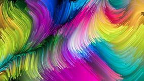 Het virtuele Leven van Vloeibare Kleur royalty-vrije illustratie