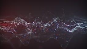Het virtuele neurale netwerk 3D teruggeven met DOF Stock Foto