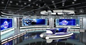 Het virtuele TV-Nieuws plaatst 1 Stock Afbeeldingen