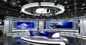 Het virtuele TV-Nieuws plaatst 1 Stock Fotografie