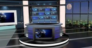 Het virtuele TV-Nieuws plaatst 27 Stock Foto