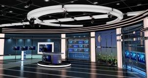 Het virtuele TV-Nieuws plaatst 27 Royalty-vrije Stock Afbeelding