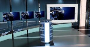 Het virtuele TV-Nieuws plaatst 27 Royalty-vrije Stock Afbeeldingen