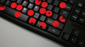 Het 'VIRUS' Dolly uit beweging van Computertoetsenbord met toetsenbordspelling 'Virus' royalty-vrije illustratie