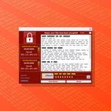 Het virus Malware wannacry Ransomware codeerde uw dossiers en requi Stock Fotografie
