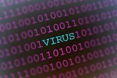 Het virus van de computer Stock Foto's