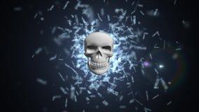 Het virus van de computer Het besmetten van het gegevensbestand en de servers royalty-vrije illustratie