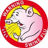 Het virus van de de varkensgriep van de waarschuwing stock afbeeldingen