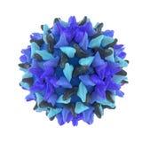 Het virus van de hepatitis B dat op wit wordt geïsoleerdt Royalty-vrije Stock Foto