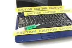 Het virusbesmetting van de computer Stock Foto
