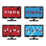Het virusconcept van de computer Stock Fotografie