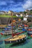 Het Visserijdorp van Cornwall Stock Foto