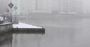 Het Visserijdorp van Kaliningrad stock footage
