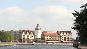 Het Visserijdorp van Kaliningrad Rusland stock videobeelden