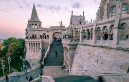 Het Vissers` s Bastion in Boedapest stock afbeelding