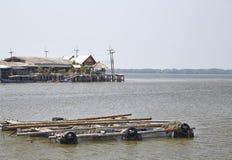 Het vissersleven Thailand stock afbeelding