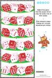 Het visuele raadsel met rijen van dobbelt kubussen Stock Foto's