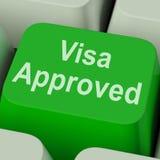 Het visum keurde Zeer belangrijk goed toont Gemachtigde de Toelating van het Land royalty-vrije stock afbeelding
