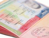 Het Visum van de V.S. Royalty-vrije Stock Foto's