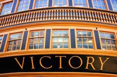 Het vlaggeschipH.M.S. Overwinning van Nelson van de admiraal Royalty-vrije Stock Foto