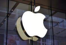 Het vlaggeschipopslag van de appel Stock Afbeeldingen