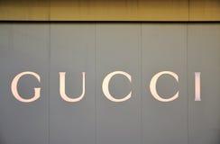 Het vlaggeschipopslag van GUCCI Stock Fotografie