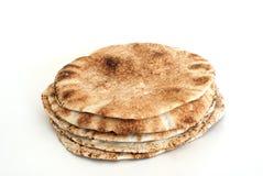 Het vlakke brood van het pitabroodje stock afbeelding
