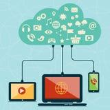 Het vlakke concept van de ontwerp moderne vectorillustratie sociale media Royalty-vrije Stock Foto's