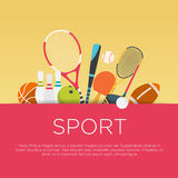 Het vlakke concept van de ontwerpsport Stock Foto's