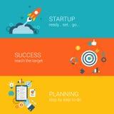 Het vlakke infographic concept van het stijlweb Stock Fotografie