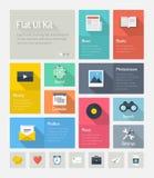 Het vlakke infographic concept van het websitegebruikersinterface Stock Foto's