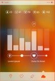 Het vlakke infographic malplaatje van het uiontwerp Stock Fotografie