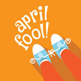 Het vlakke ontwerp van April Fools Day Stock Illustratie