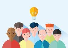 Het vlakke ontwerp van het ideeconcept, Stock Afbeeldingen